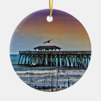 Painting of Pier at Myrtle Beach - Ornament