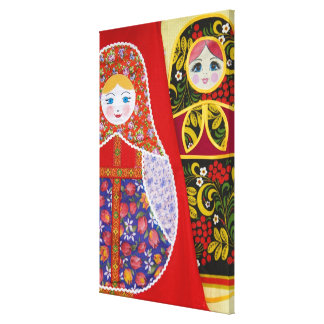 Painting of Russian Matryoshka doll Canvas Print