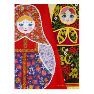Painting of Russian Matryoshka doll Postcard