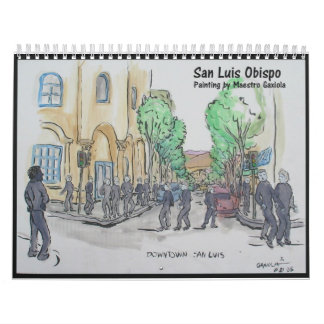 Painting of San Luis Obispo Wall Calendars