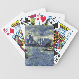 Painting of the Sydney  watery landscape Poker Deck