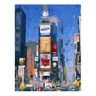 Painting of Times square Manhattan New York Postcard