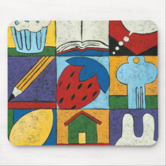 Painting of Various Objects by Chariklia Zarris Mouse Pad