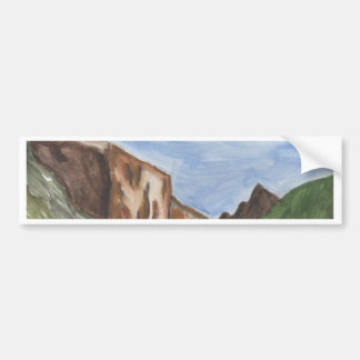 Painting of Yosemite Valley Bumper Sticker
