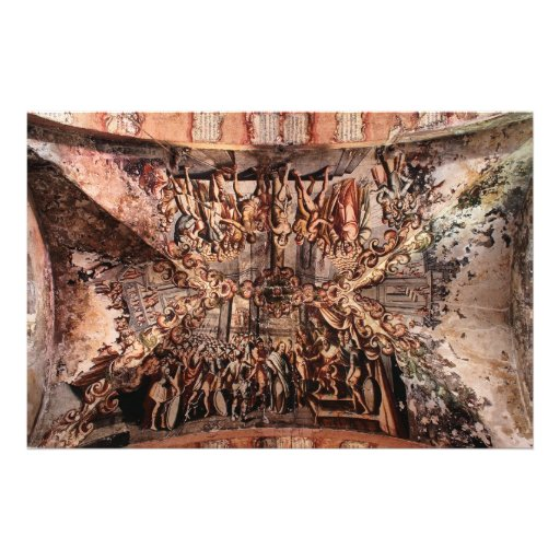 Painting on the Ceiling of Atotonilco Church Photograph