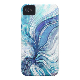 Painting on Watercolor Splatter Texture Cover iPhone 4 Cases