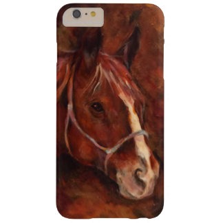 Painting ,portrait of a red horse barely there iPhone 6 plus case