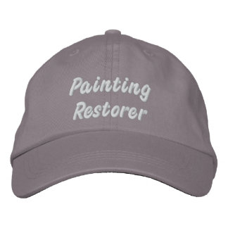 Painting restorers embroidered baseball caps