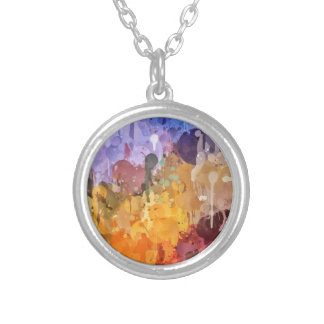 Painting Round Pendant Necklace