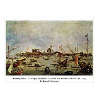 "Painting Series, ""Le Dogali Solennità"" "" Postcard"