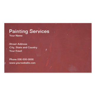 Painting Services Business Card Business Card