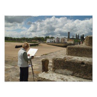 Painting St Andrews Harbour Art Photo