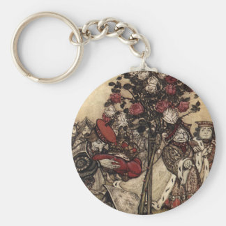 Painting the Roses Key Ring