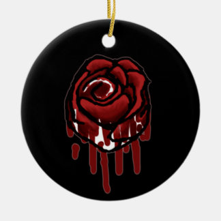 painting the roses red round ceramic decoration