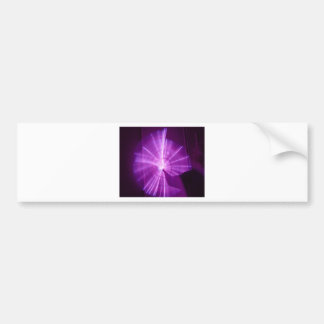 """""""Painting with Light"""" Abstract - Purple Spiral Bumper Stickers"""
