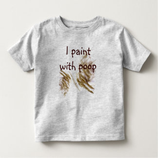 Painting with poo shirt for toddlers