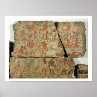Paintings from the Tomb of Metjetji, from Saqqara, Poster