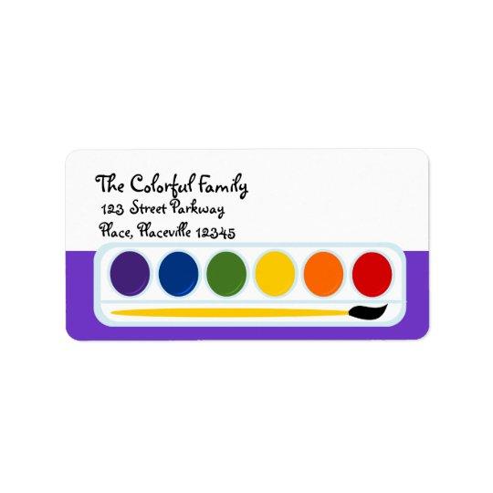 Paints Address Label