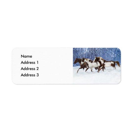 Paints In Winter, Address 3, Address 2, Address... Return Address Label
