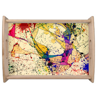 Paints Large Serving Tray, Natural Serving Tray