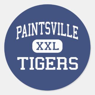 Paintsville - Tigers - High - Paintsville Kentucky Round Sticker