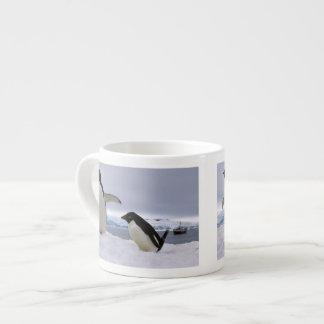 Pair Adelie penguins Antarctica Espresso Mug