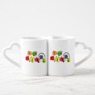 pair friendly cups, two cups, to share love coffee mug set
