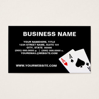 Pair of Aces Business Cards