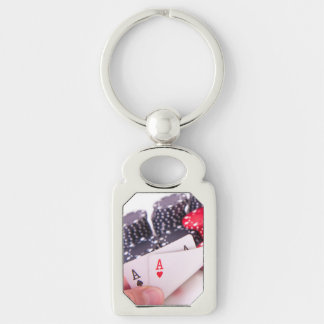 Pair of Aces Key Ring
