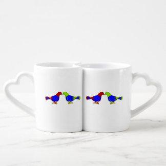 pair of birds coffee mug set