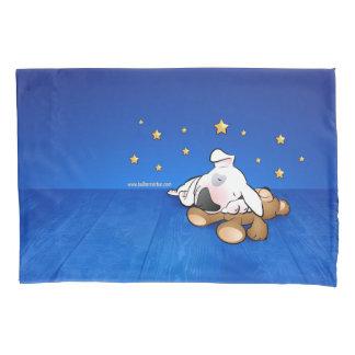 Pair of Bull Terrier Cartoon pillow cases
