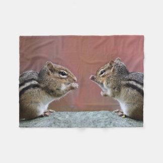 Pair of Chipmunks Fleece Blanket