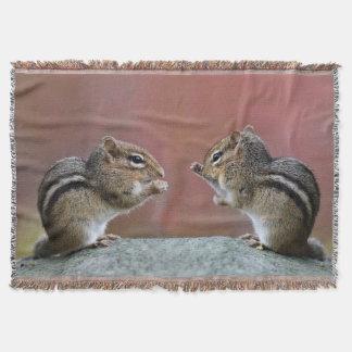 Pair of Chipmunks Throw Blanket