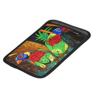 Pair of Colorful Parakeets iPad Mini Sleeve