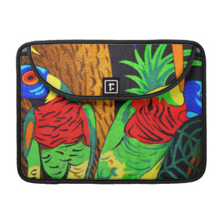 Pair of Colorful Parakeets MacBook Pro Sleeve