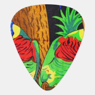 Pair of Colorful Parakeets Plectrum