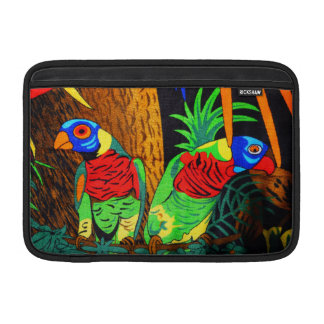 Pair of Colorful Parakeets Sleeves For MacBook Air