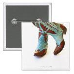 Pair of cowboy shoes 3 15 cm square badge