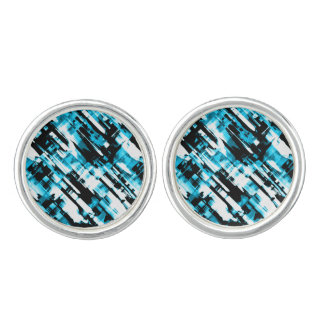 Pair of Cufflinks Blue Black digitalart G253