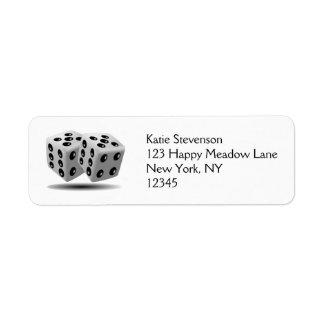 Pair of Dice Return Address Label