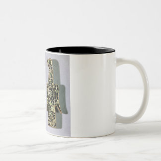 Pair of Eagle-Shaped Brooches (metal and enamel) Mugs