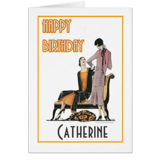 Pair of Flappers Birthday Card