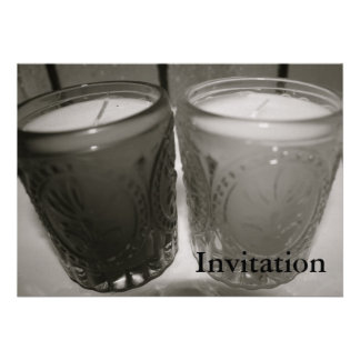 Pair of Glass Candle Jars  Invitation