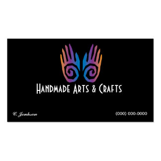 Pair of Hands Logo Business Card Arts and Crafts
