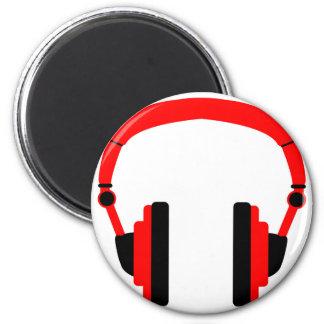 Pair Of Headphones 6 Cm Round Magnet