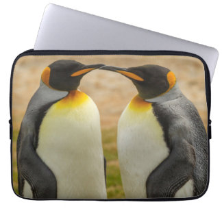 Pair of King Penguins, Falklands Computer Sleeves