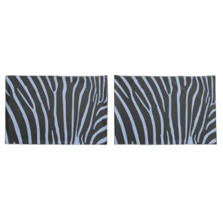 Pair of layers with stripes of zebra pillowcase