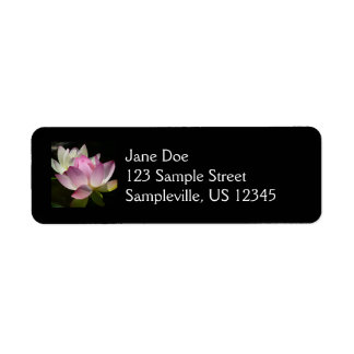Pair of Lotus Flowers II Return Address Label