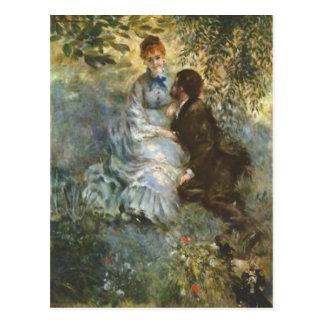 Pair of Lovers by Pierre Renoir Postcard