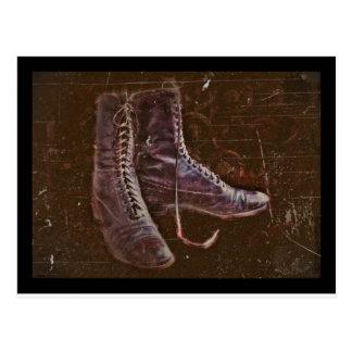 Pair of Nurse Boots WWI Postcard